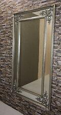 Barock Modern Wandspiegel mit Holzrahmen Antik-Silber 167x92 cm  NEU!