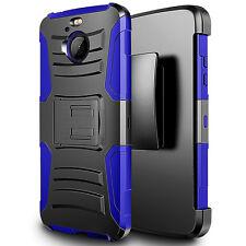 FOR HTC BOLT 10 EVO BLACK BLUE RUGGED HOLSTER CASE SHOCKPROOF ARMOR COVER