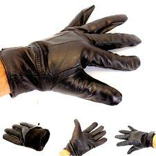Herren Leder Handschuhe Lederhandschuhe gefüttert Winterhandschuh L XL XXL schw.