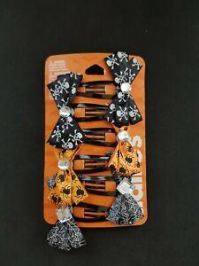 New Claire's Halloween Women's Girl's 6 piece Hair Clip Skull Spider Spider Web