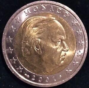 MONNAIE EURO MONACO 2001 2 euro Voir photos
