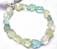 NATURAL GEMSTONE MUlTICOLOR AQUAMARINE Faceted Nugget BEADS 10 - 14 MM 7.5 inch