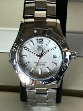 Female Tag Heuer Aquaracer Mother Of Pearl Dial Watch