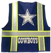 Dallas Cowboy Navy Blue Reflective Safety Vest Withsilver Reflective Logo