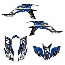 Yamaha YFZ 450 graphics kit 2003 2004 2005 2006 2007 2008 stickers #4444 blue