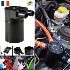 Oil Catch Breather Can Baffled Aluminum Reservoir Tank Black For BMW N54 335