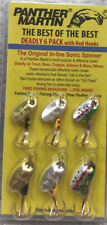 Panther Martin Deadly 6 Pack With Red Hooks  6 Spinners All New W05