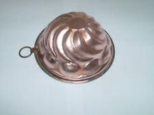 Ancien moule à gâteau en cuivre Ø 15,5 cm / Antique French copper cake mold