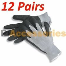 12 Pairs Black Cotton Latex String Knit Work Gloves Size L Industrial Warehouse