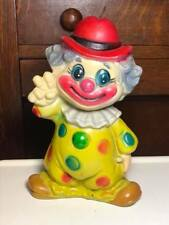 Vintage Plastic Clown Coin Bank