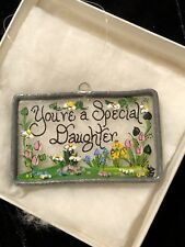 You're a Special Daughter Custom Glass Hanging Plaque Ornament