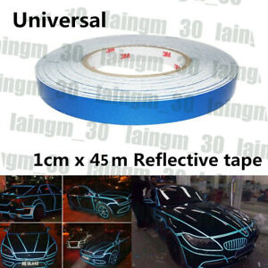 DIY Reflective Sticker Car Motorcycle Truck Body Stripe Self Adhesive Tapes Blue