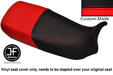 BLACK AND RED VINYL CUSTOM FITS HONDA XL 600 V TRANSALP DUAL SEAT COVER ONLY