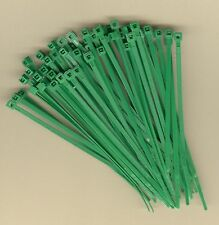 "100 4"" Inch Long 18# Pound GREEN NYLON Cable Ties Zip Ty Wraps MADE IN USA"