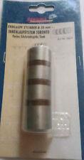 Embout de rideau en métal aspect acier inoxydable 20 mm de diamètre