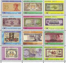 Aruba 2011 Paper money fair Indonesia Bhutan Sudan Haiti Turkey Egypt MNH