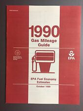 1990 EPA Gas Mileage Guide Awesome L@@K