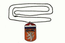 """Holland Country Flag , Knvb Logo Dog Tag Metal Necklace With 14"""" Inch Chain.New"""
