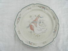 C4 Pottery International White Goose Side Plate 19.5cm 2A1B