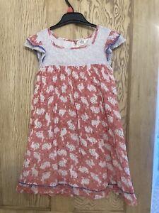 Mini Boden Rabbit / Easter Dress. Age 7-8.