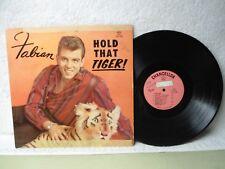 Fabian LP Hold That Tiger Rare 1959 Mono Pink Label Debut Orig! Turn Me Loose