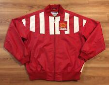 Vintage 80's Troop Champion Jacket XL LL Cool J Hip Hop Red Faux Leather