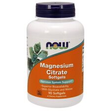 Now Foods Magnesium Citrate - 90 Softgels, Fresh, Free Shipping, Made in USA