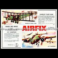 AIRFIX 'Avion HANDLEY PAGE HAMPDEN & BIPAN 0/400' 1969 Pub / Publicité / Ad #B87