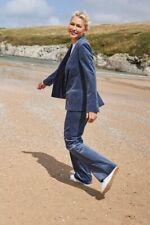 Emma Willis Next Blue Corduroy Suit Size 12 Petite Trousers And Jacket Set