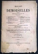 OTTOCENTINA MAGASIN DES DEMOISELLES JOURNAL 1857 - 1858