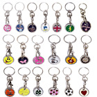 £1 POUND COIN NEW SHAPE SHOPPING TROLLEY TOKEN KEYRING CLASP BUY 2 GET 1  FREE