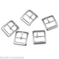 F1 20 Metall Schnallen Ersatzschnalle Buckles für Taschen Schuhen Silber 30x27mm