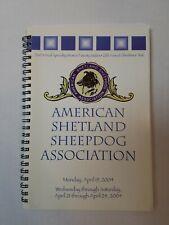 American Shetland Sheepdog Association Dog Show Catalog Utah April 2004
