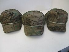 Lot of 3-5 Panel-Woodland Camo Pattern Caps/Hat-4 mesh panels-Rope-Snapback[3055