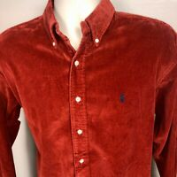 Vintage Polo Ralph Lauren Rust Earth Corduroy Shirt Classic Button Down Mens M