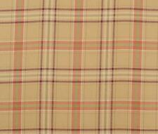 iliv Piazza Cerato Burnt Orange Tartan  Curtain/upholstery Fabric