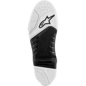 Alpinestars Tech 10 Replacement Boot Soles Black/White All Sizes
