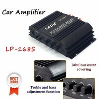 LP168S Car Amplifier Audio Stereo 2.1 HiFi Channel 2x40W Sub Output Super Bass