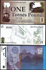 Inglaterra/Totnes - 3 X 1 £ billetes locales, con versiones difíciles de encontrar temprano. UNC