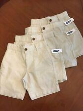 4 pair Boys Sz 6 Old Navy Khaki Dress Shorts Uniform Flat Front Adj Waist Nwt