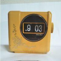 Seiko DZ-620 Retro Flip Alarm Clock White Vintage Made in Japan Working
