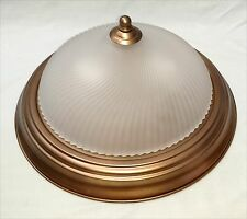 Ceiling Light Fixture Hampton Bay Flush Mount 2 Bulb Swirled Frosted Glass Shade