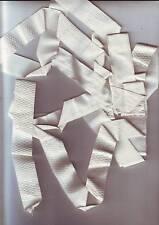 petite longueur de galon ruban tissu blanc longueur 2,55 metres