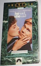 He Said, She Said (VHS, 1991) RARE Cassette Programmed for 2 Plays then Erases!