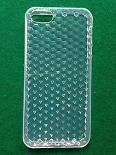 COVER custodia case x iPHONE 5 5s TRASPARENTE in GOMMA GEL SILICONE