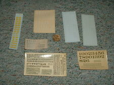 Walthers etc decals HO Numbers letters various  Lot2  G56
