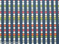 harlekin gardinenstoff rechenbrett 1.0m dunkelblau/multispot design 100cm