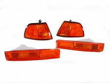 DEPO AMBER Corner + Bumper Signal Lights For 1990-1991 Honda Civic 3DR Hatchback