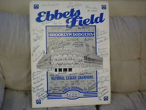 BROOKLYN DODGERS HALL OF FAMERS AND STARS MULTI SIGNED POSTER KOUFAX  PSA/DNA !