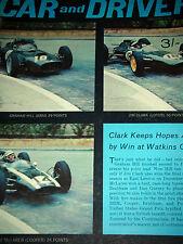 UNITED STATES GRAND PRIX GP WATKINS GLEN 1962 JIM CLARK COLIN CHAPMAN LOTUS 25